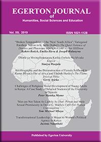 Egerton Journal of Humanities, Social Sciences & Education